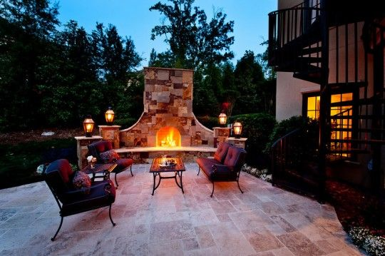 Landscape Design Charlotte- Outdoor Fireplace