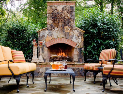 Warm Up Your Outdoor Living Area with a Fireplace