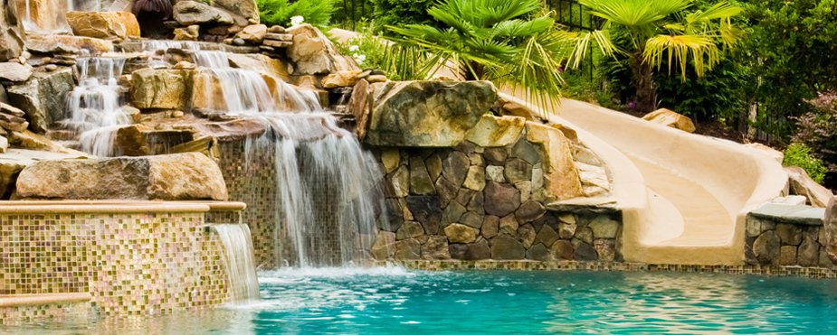 Inground Pool Slide & Pool Waterfall